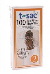 100 Filtri da Tè per Teiere a 4 Tazze