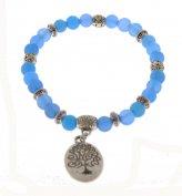 Bracciale Charms Agata Blu