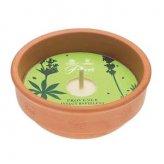 Candela Grande in Vaso di Terracotta - Repellente per Zanzare