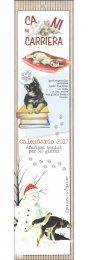 Cani in Carriera - Calendario Piccolo 2016