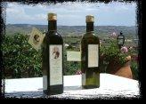 Cassetta Legno Marchiata con 2 Bottiglie d'Olio e 1 Oliera