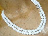 Collana in Agata bianca con cuore e spirale - Cod 1