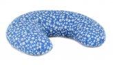 Cuscino Ciambella Farro con Tessuto Stelle Alpine - Blu