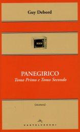 Panegirico - Tomo Primo e Tomo Secondo - Libro
