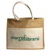 Shopper Borsa in Juta - Logo Macrolibrarsi