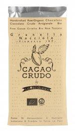 Tavoletta di Cioccolato Crudo Granella Nocciole