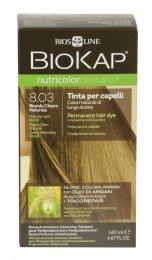 Tinta per Capelli BioKap Delicato Plus - 8.03 Biondo Chiaro Naturale