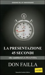La Presentazione 45 Secondi - Libro + Cd Audio