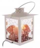 Lampada Lanterna Elegante ai Cristalli di Sale