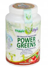 Power Greens - Proteina + Superfood - con Fragola - 1 kg