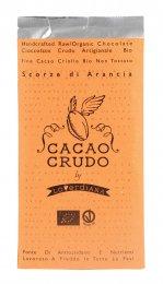 Tavoletta di Cioccolato Crudo Scorze di Arancia